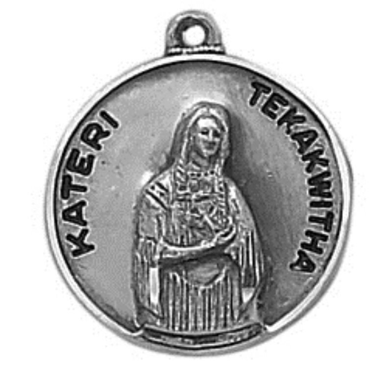 Creed® Sterling Patron Saint Blessed Kateri Medal