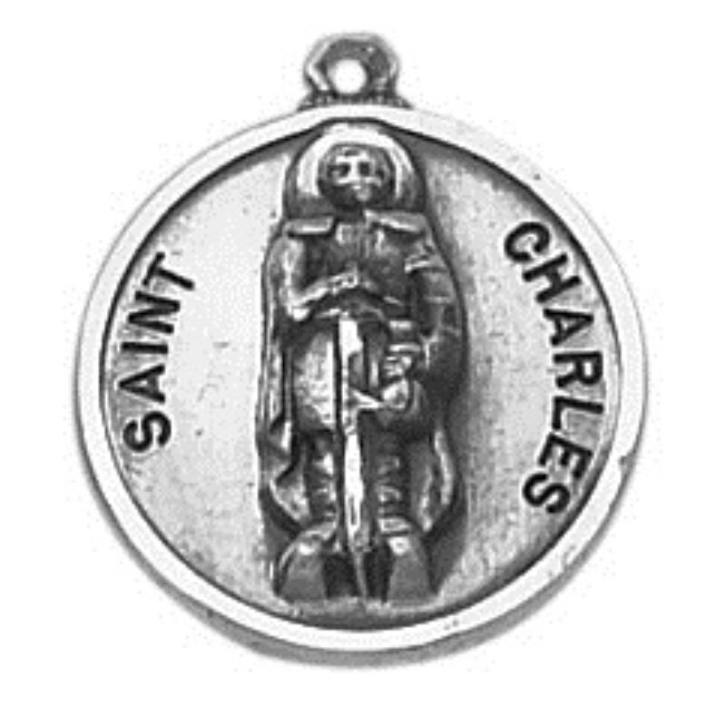 Creed® Sterling Patron Saint Charles Medal