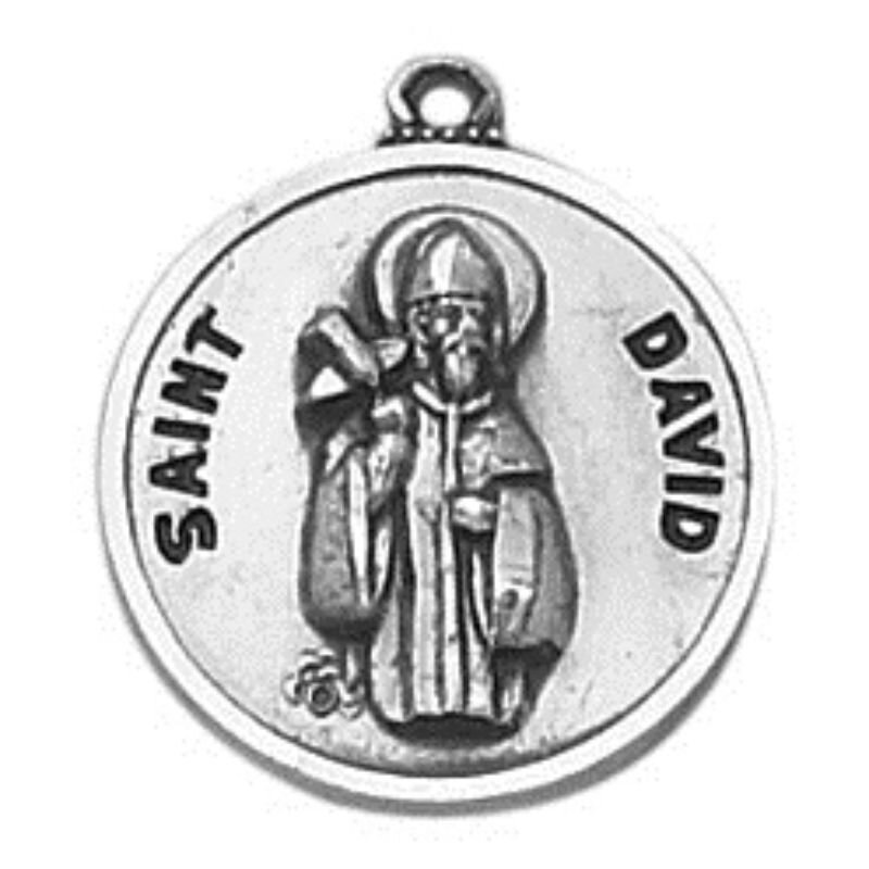 Creed® Sterling Patron Saint David Medal
