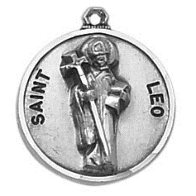 Creed® Sterling Patron Saint Leo Medal