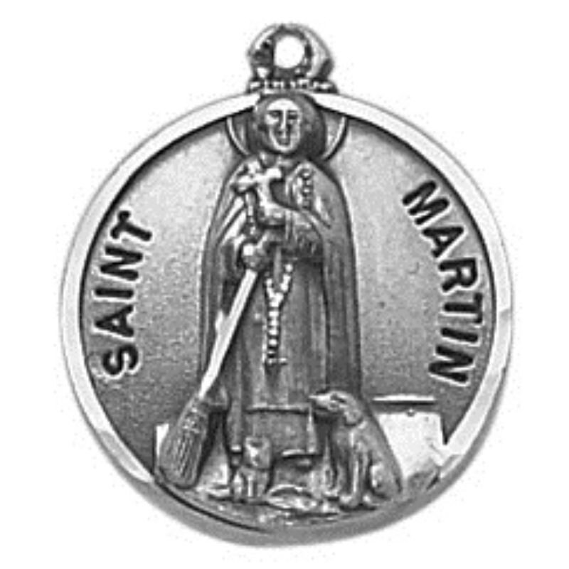Creed® Sterling Patron Saint Martin Medal