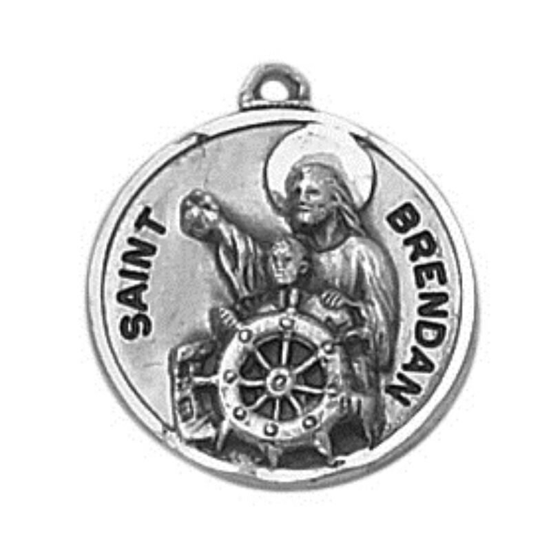 Creed® Sterling Patron Saint Brendan Medal