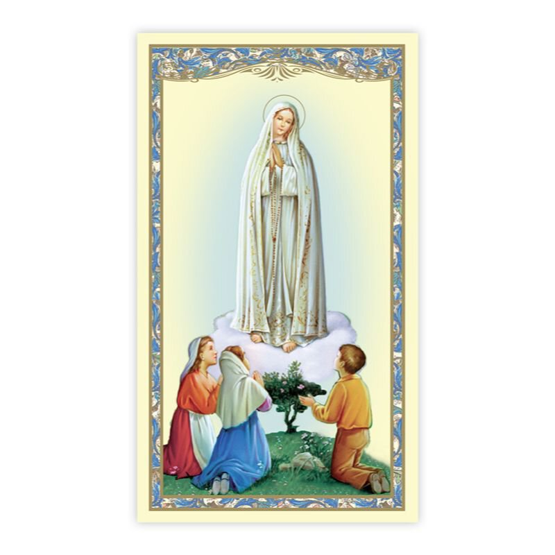 Our Lady of Fatima Holy Card - 100/pk