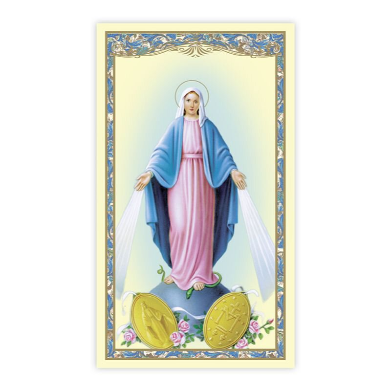 Our Lady of the Miraculous Medal Holy Card - 100/pk