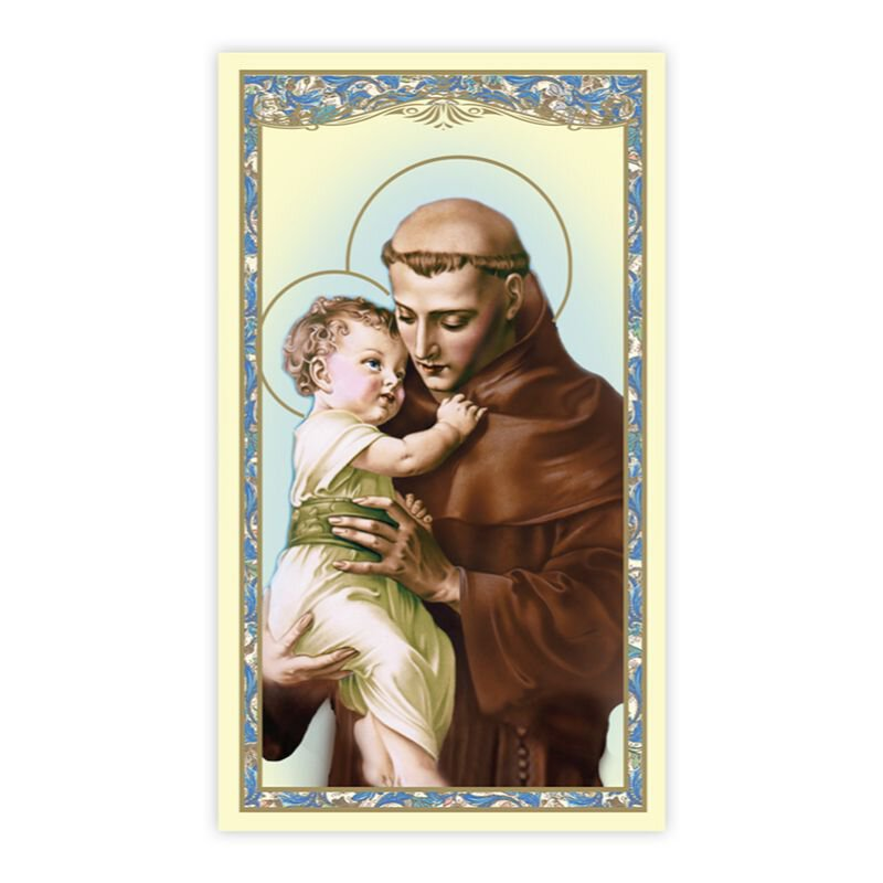 St. Anthony Holy Card (Unfailing Prayer) - 100/pk