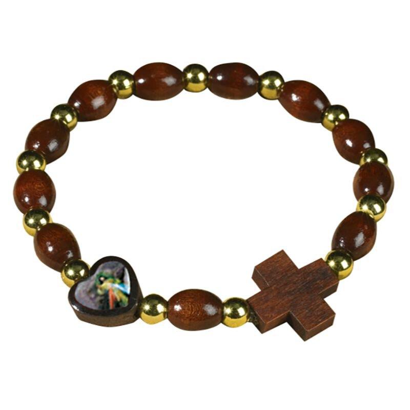 Divine Mercy Heart Rosary Bracelet
