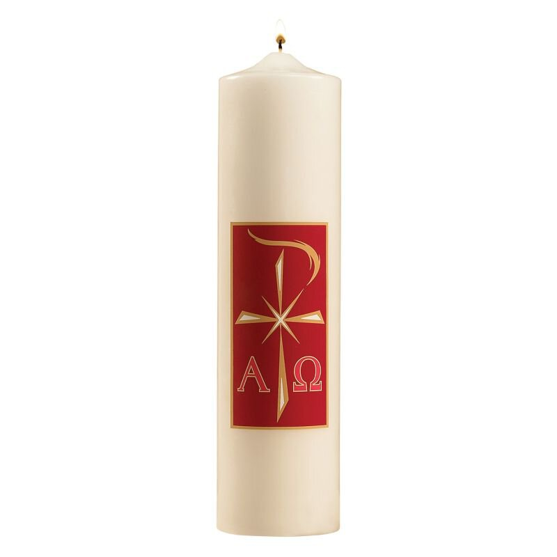 Alpha Omega Christ Candle