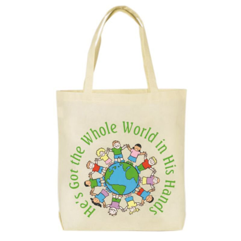 He's Got the Whole World Tote Bag - 12/pk