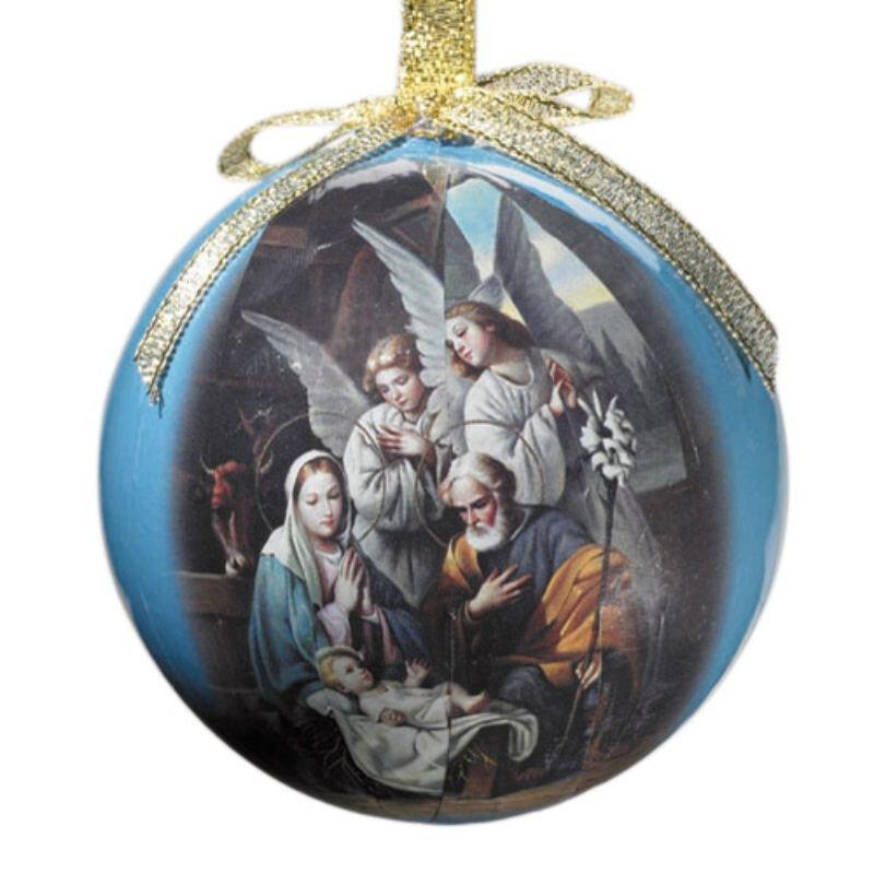 Blessed Art Thou Decoupage Ornament - 6/pk