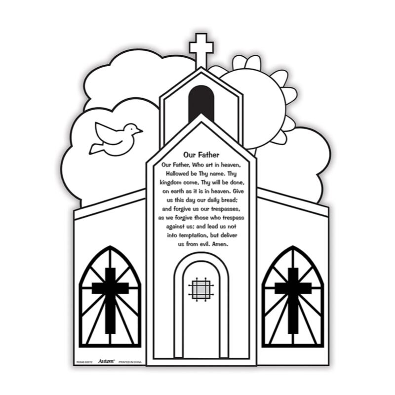 Color Your Own Prayer Picture - Our Father - 48/pk