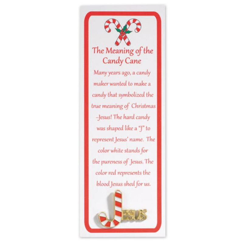 Story of the Candy Cane Lapel Pin with Bookmark - 12/pk