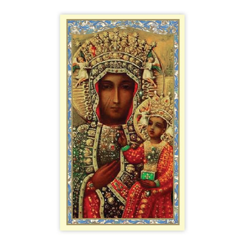 Our Lady of Czestochowa Laminated Holy Card - 25/PK