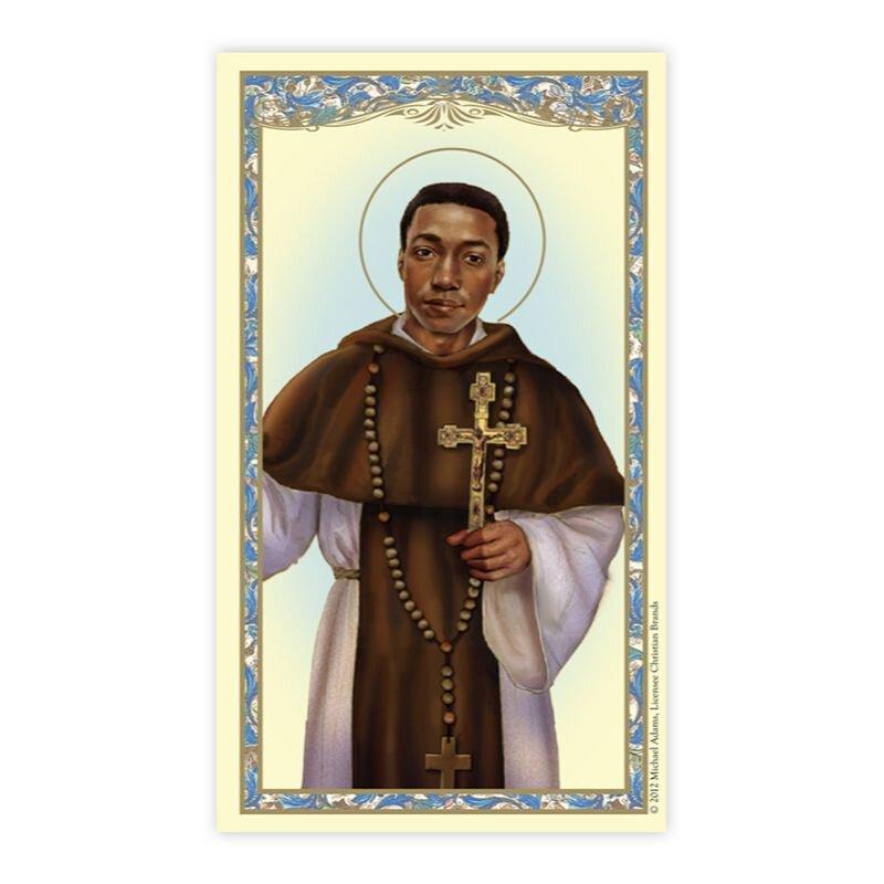 St. Martin De Porres Laminated Holy Card - 25/pk