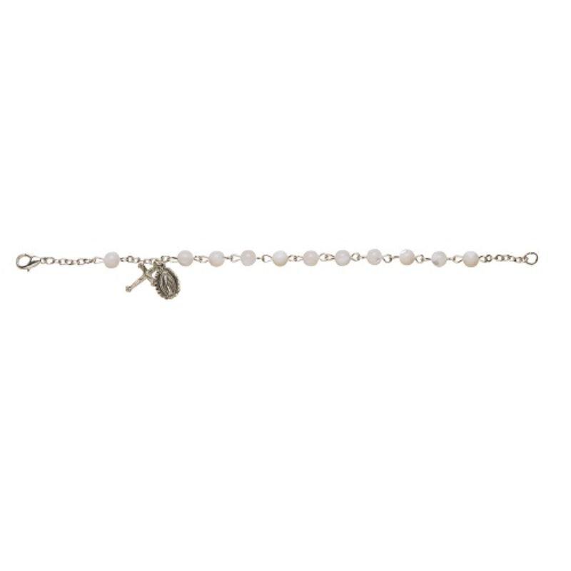 Mother of Pearl Italian Gemstone Bracelet