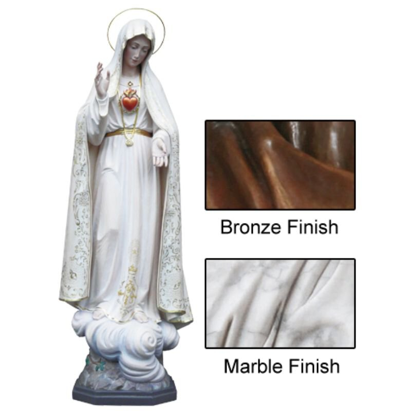 Our Lady of Fatima Statue - Wood