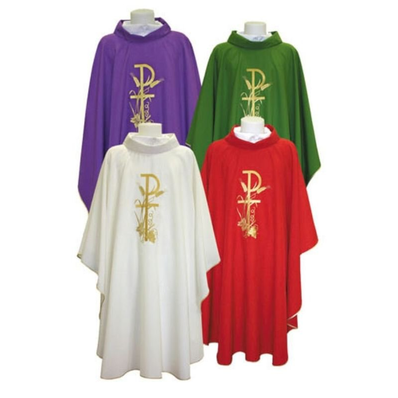 Chi Rho with Grapes and Wheat Chasuble
