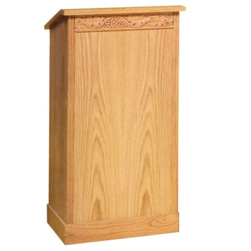 Lectern with Extended Shelf