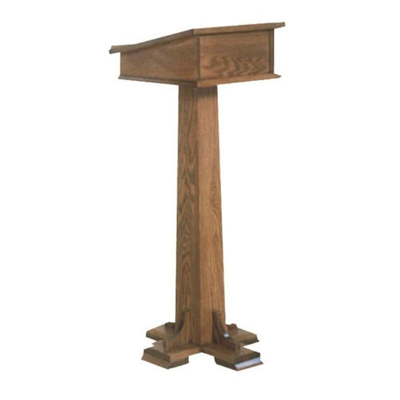 Lectern With One Shelf