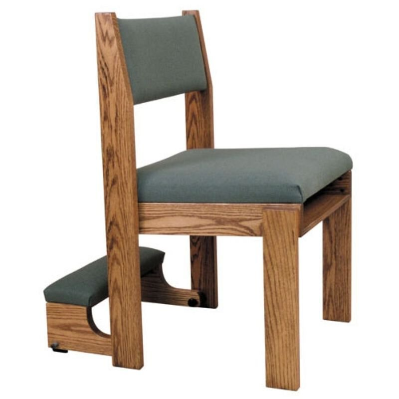 Stacking Chair with Front and Rear Underseat Book Rack