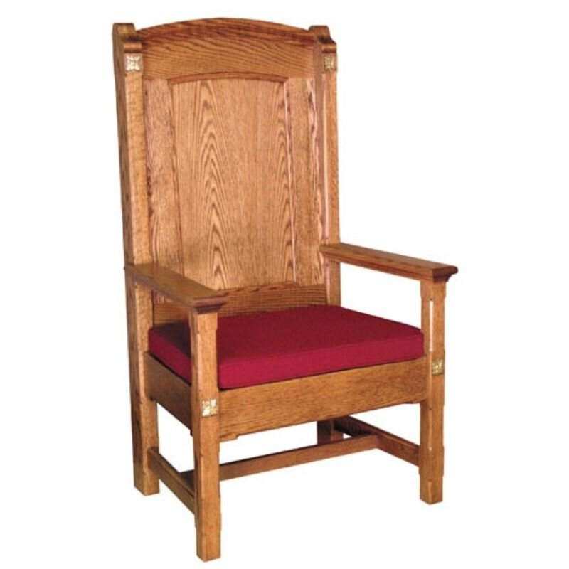 Celebrant Chair with a Wooden Back