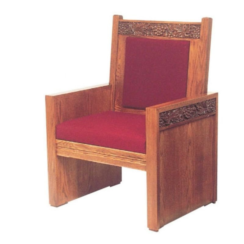 Celebrant Side Arm Oak Chair