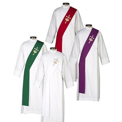 Cross & Crown  Deacon Stole - 4/set