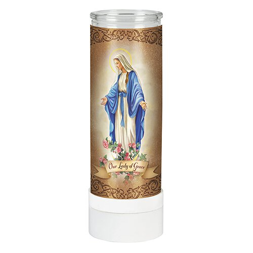 Our Lady of Grace Battery Operated Electric Candle – 4/pk
