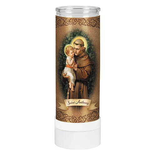 St. Anthony Battery Operated Electric Candle – 4/pk