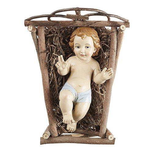Infant Jesus with Crib-Medium