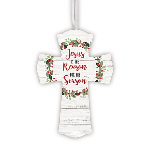 Jesus is the Reason Wood Cross - 12/pk