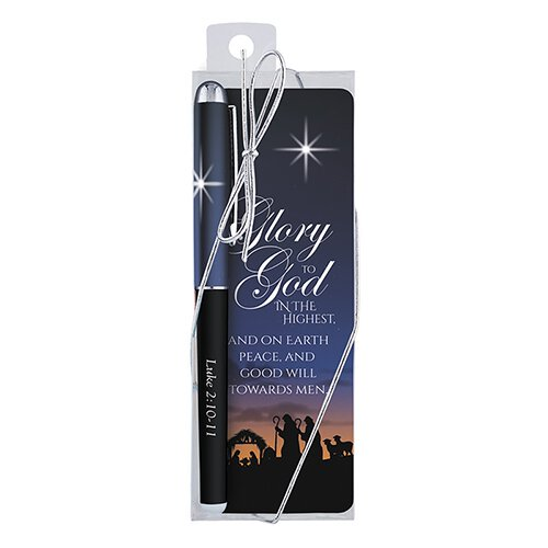 Joy to the World Gift Pen with Bookmark - 12/pk