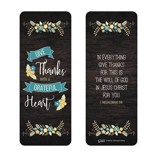 Grateful Heart Jumbo Bookmark - 36/pk