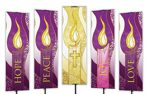 Advent Banners – 5/set