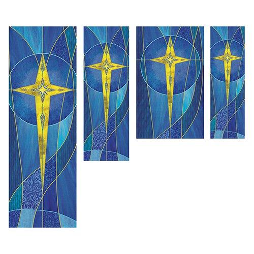 Star of Bethlehem Banners - Blue