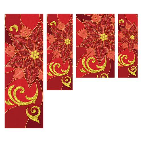 Poinsettia Banner - Red