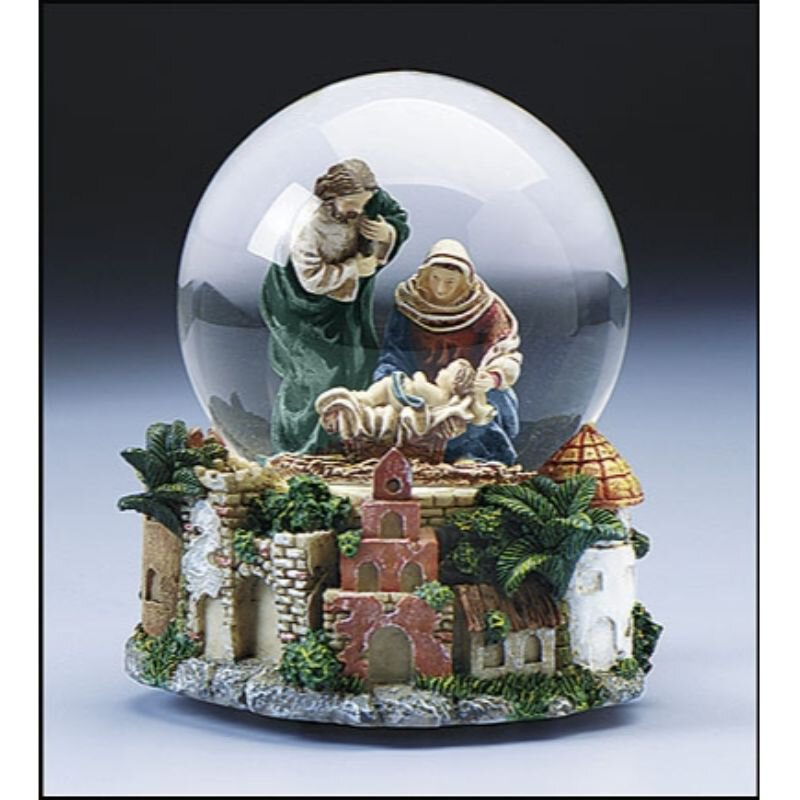 Musical Snowglobe Nativity scene