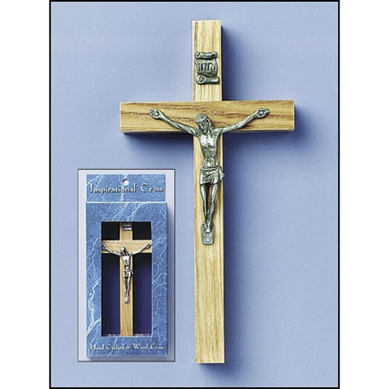 Wood Crucifix with Gift Box - 6/PK