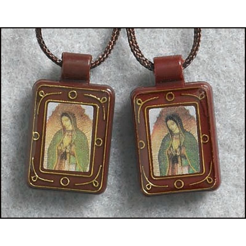 Our Lady of Guadalupe Moulded Scapular - 12/pk