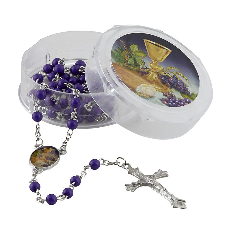 Body of Christ First Communion Rosary with Case - 12/pk