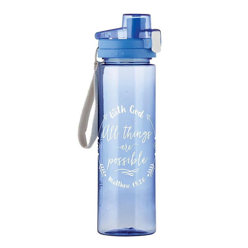 With God All Things are Possible Water Bottle - 4/pk