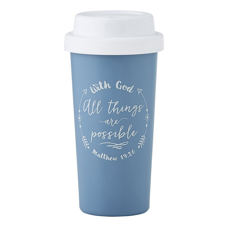 With God All Things are Possible Double Wall Tumbler - 12/pk