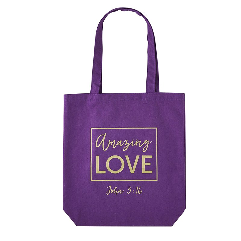 Amazing Love Tote Bag with Inside Pocket - 12pk