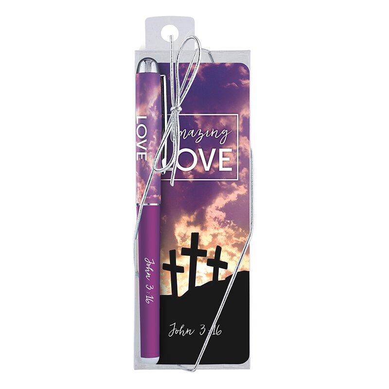 Amazing Love Gift Pen with Bookmark - 12/pk