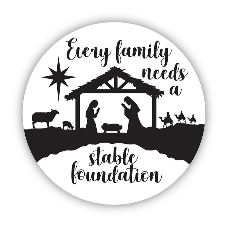 Stable Foundation Christmas Auto Magnet - 24/pk
