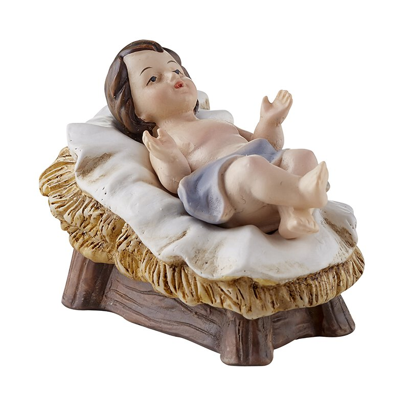 Two-Piece Christ Child in Manger - 12/pk