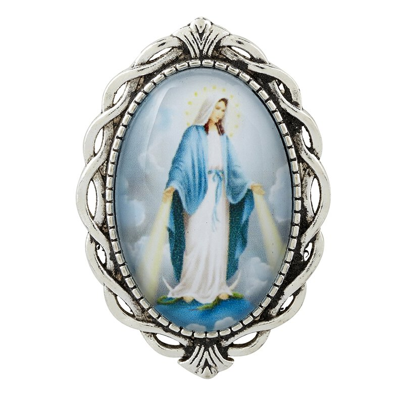 Blessed Mother Ornate Lapel Pin - 12/pk