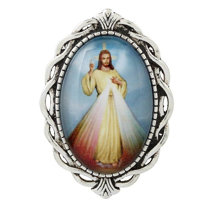 Divine Mercy Ornate Lapel Pin - 12/pk