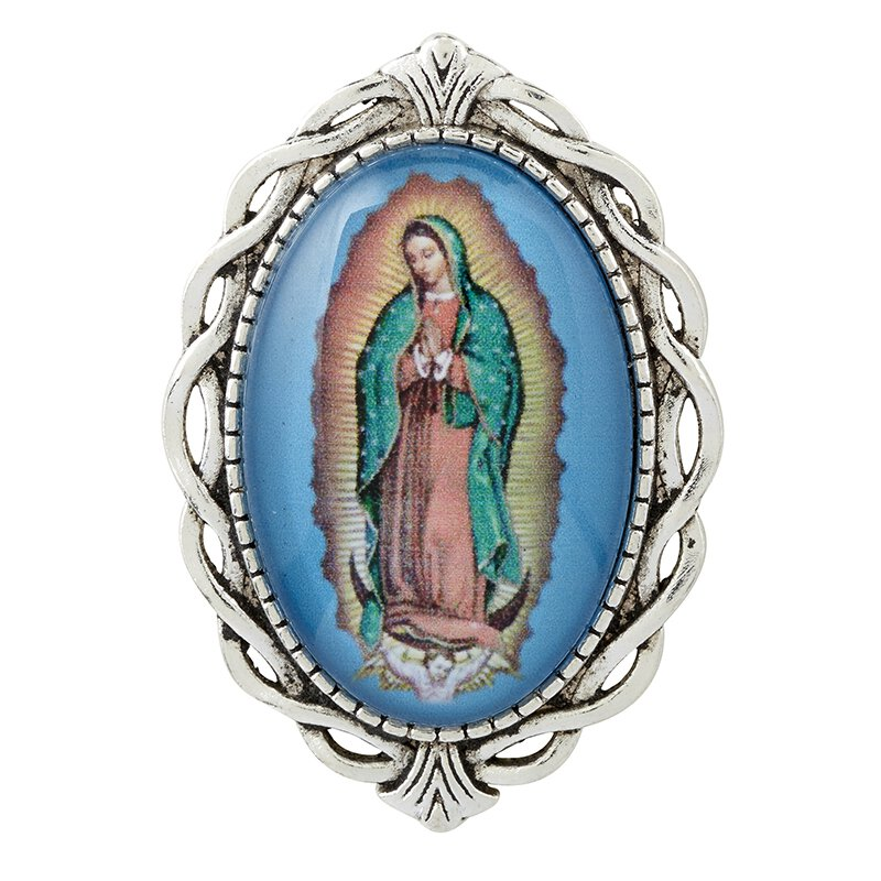 Our Lady of Guadalupe Ornate Lapel Pin - 12/pk