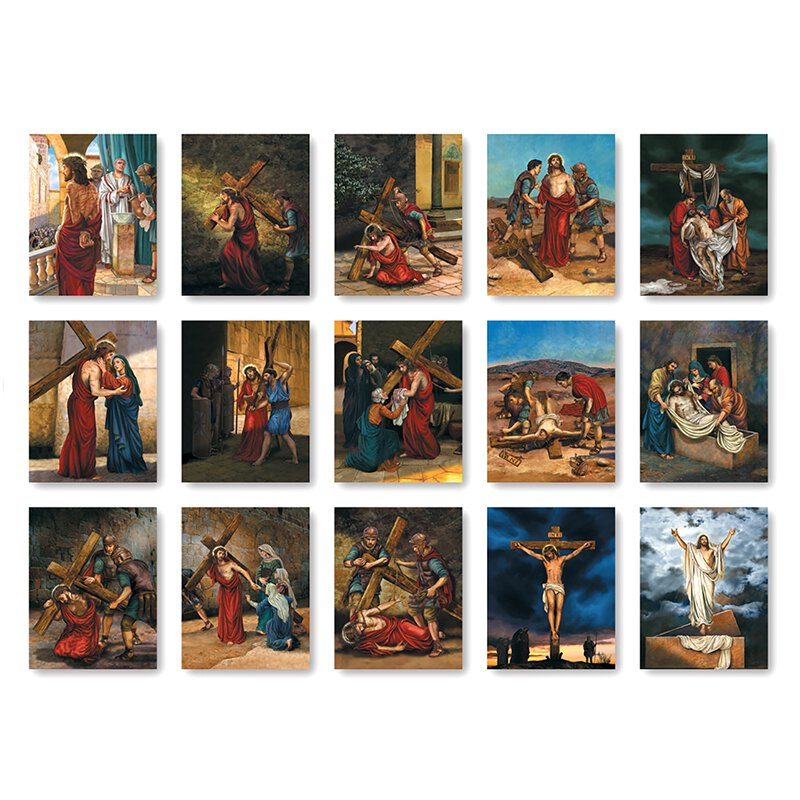 Stations of The Cross Banners - Set of 15
