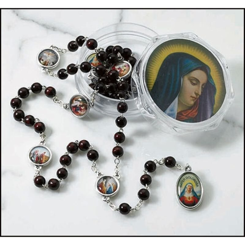 Seven Dolors Rosary with Two-Piece Case